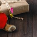 Plyšový medvedík so zabaleným darčekom